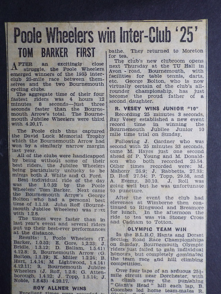 Interclub writeup 1955