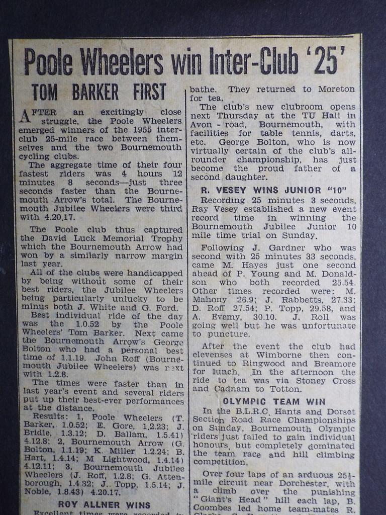 Interclub writeup 1955